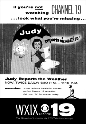 WXIX Judy marks Ad